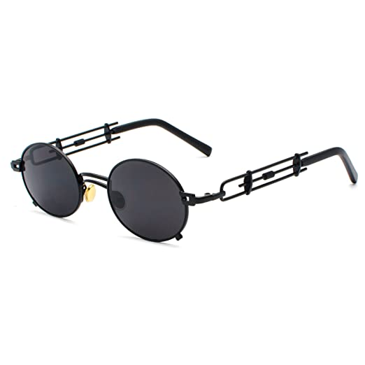CVOO Gothic Steam Punk Sunglasses Men Women Metal Eyeglasses Round Shades Brand Designer Sun Glasses Mirror High Quality UV400 hBbI5Wi