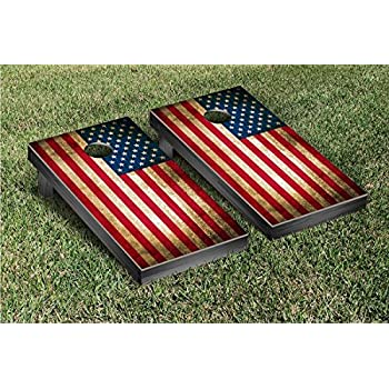 US Vintage Flag Regulation Cornhole Game Set