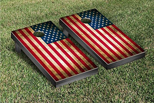 US Vintage Flag Cornhole Game Set