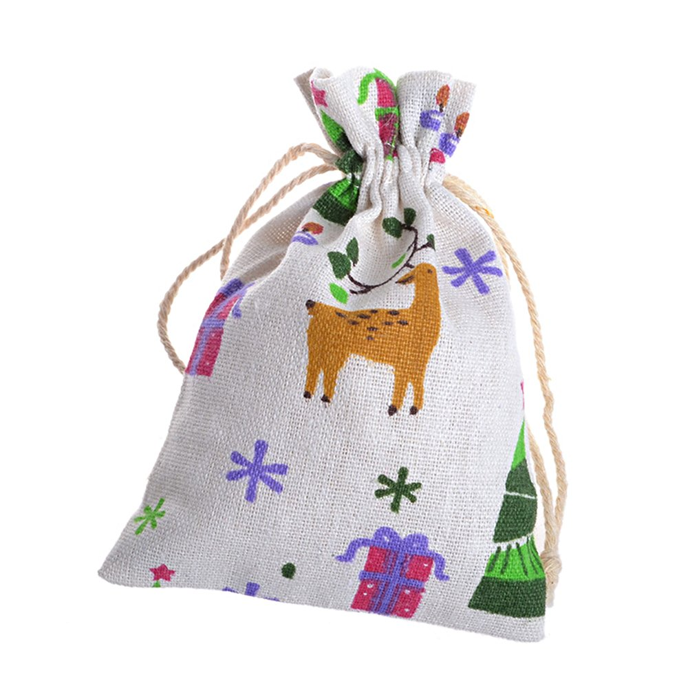 Ya Jin Pack of 30 Deer Canvas Drawstring Pouch/Jewelry Wedding Party Favor Gift Wrap Bags
