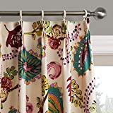 25 Sizes Available (Set of 1 panel) (42″W x 84″L) Pleated Top Contemporary Print Abstract Artistic Leaves Blackout Lining Window Treatment Draperies & Curtains Panels