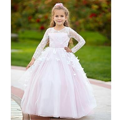 ec01af09b Big Girls Blush 3D Butterfly Applique Train Cheyenne Flower Girl Dress 8