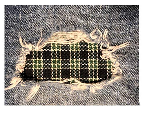 - Green and Black Plaid Peek-A-Boo Iron On Patches (2-4
