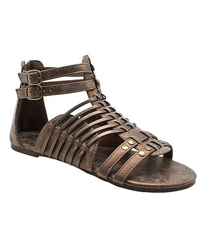 0ea2550e2d14 Pierre Dumas Adele-3 Ladies Caged Gladiator Sandal (10 B(M) US