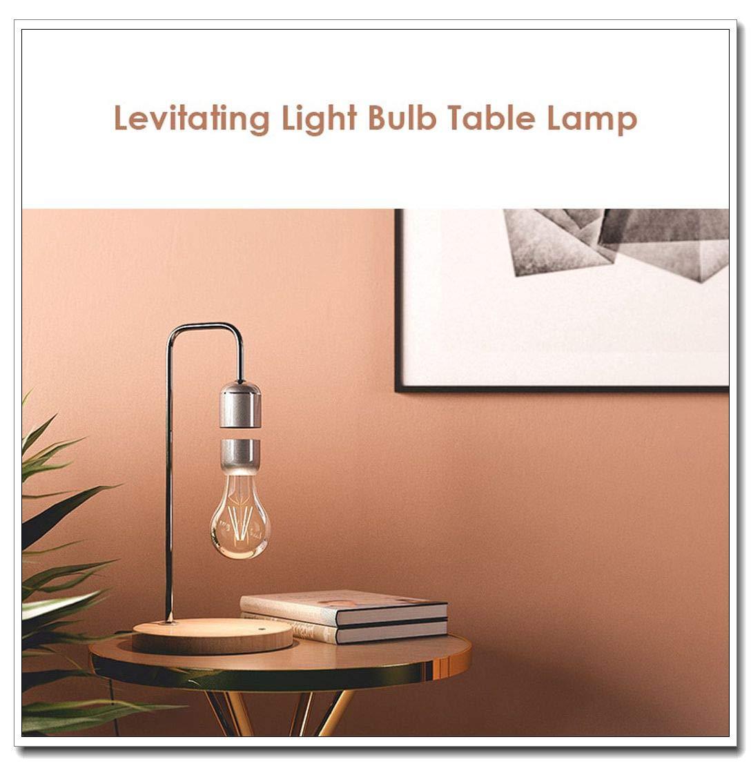 cnnIUHA Levitating Light Bulb Table Lamp Luminosity Anti-Gravity Lamp Magnetic Lamp Night Light,Upside-Down Floating Lightbulb Design,for Baby Kids Lover Birthday Party Gifts