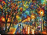 Art Leonid Afremov Colorful Landscape City Women Couples Canvas Framed Free Shpping Made in North America offers