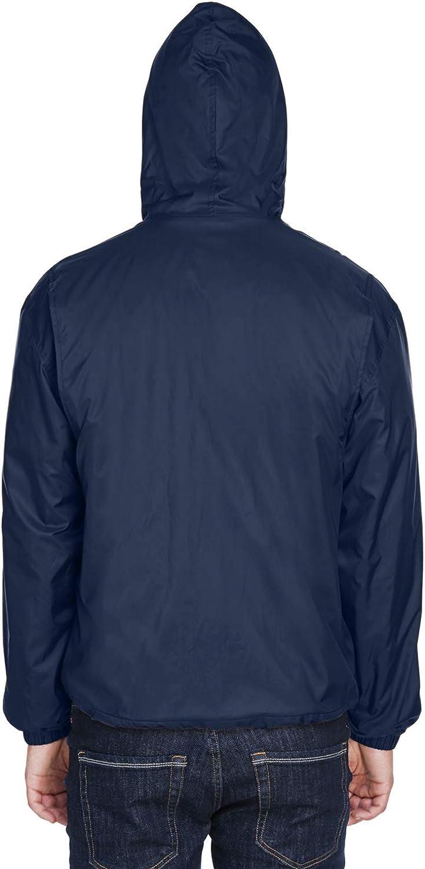 UltraClub Mens Water Resistant Fleece Lined Elastic Cuffs Hooded Jacket