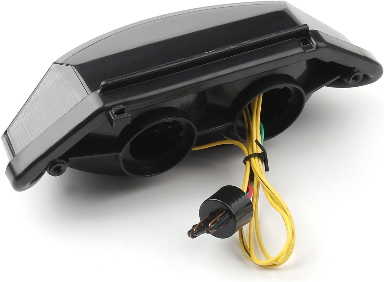 Artudatch Feu arri/ère LED pour moto avec clignotants pour H-O-N-D-A CB600 Hornet CB900 Hornet 599 919 2002-2007