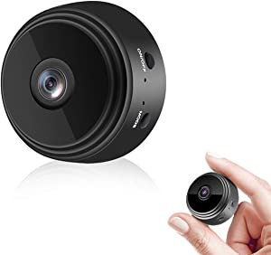 Hidden Mini Spy Camera, WiFi Wireless Audio and Video Camera 1080P HD, Nanny Cams with Night Vision and Motion Detection for Indoor Outdoor