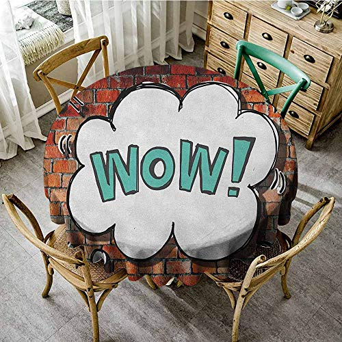 Rank-T Vintage Round Tablecloth 40