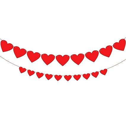 Amazon Com Red Heart Garland Assembled Banner No Diy