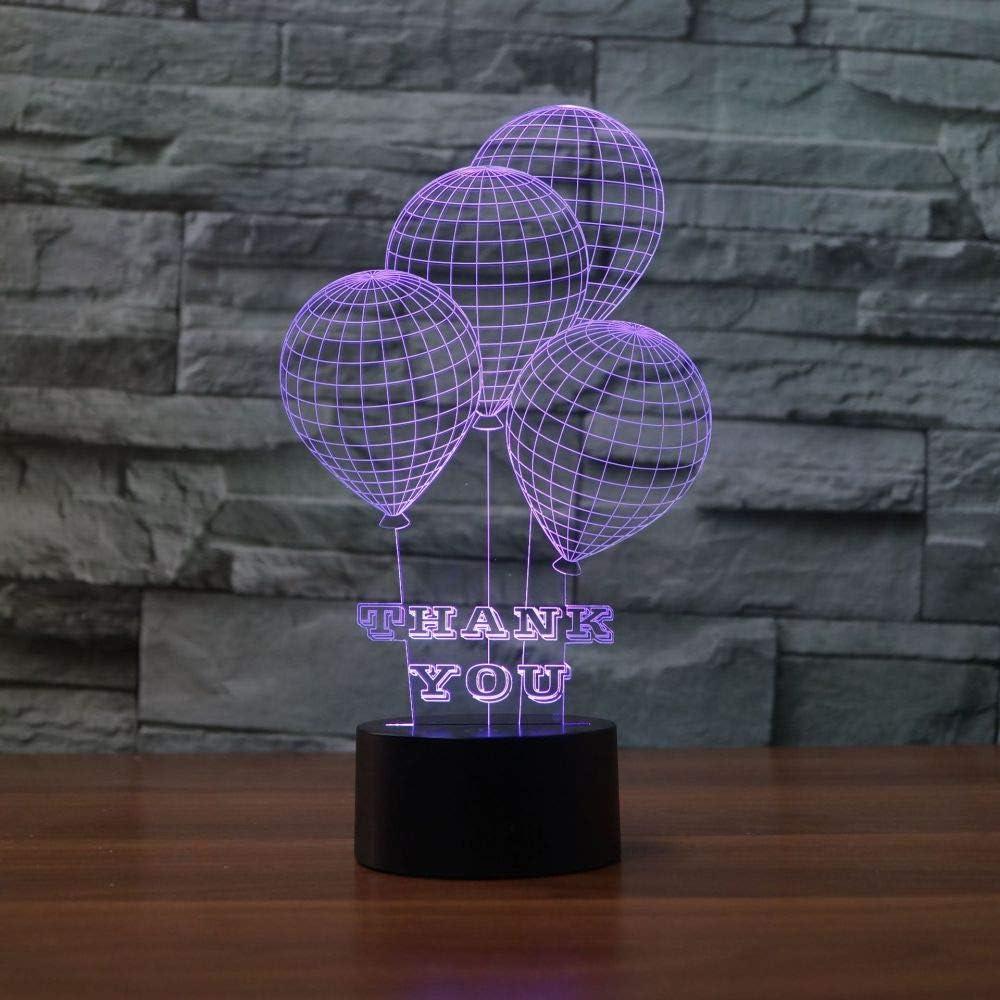 BFMBCHDJ Acción de gracias Regalos creativos Luz de noche LED Lámpara de mesa LED de acrílico colorido Lámpara de mesita de noche A4 Base de grieta blanca + control remoto: Amazon.es: Iluminación