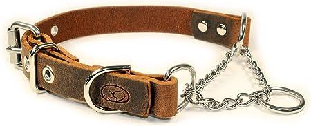 sleepy pup Adjustable Leather Martingale Chain,