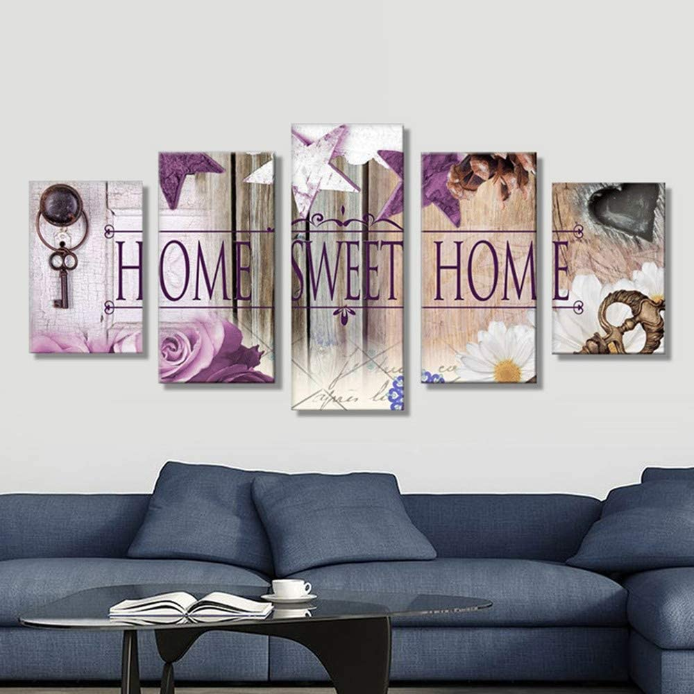 MOTOCO Full Drill DIY 5D Diamond Painting Embroidery Cross Crafts Stitch Kit Home Decor(A:Home Sweet)