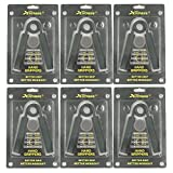 xfitness Black Hand Grippers 1 Set of 6 Grip Bars 100-350