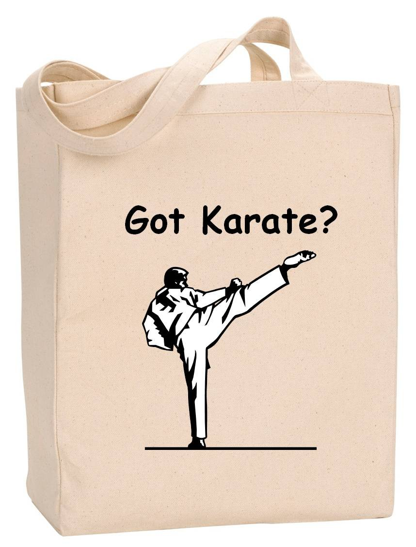 GOT KARATE - BigBoyMusic Tote Bags - Natural Canvas Tote Bag with Gusset