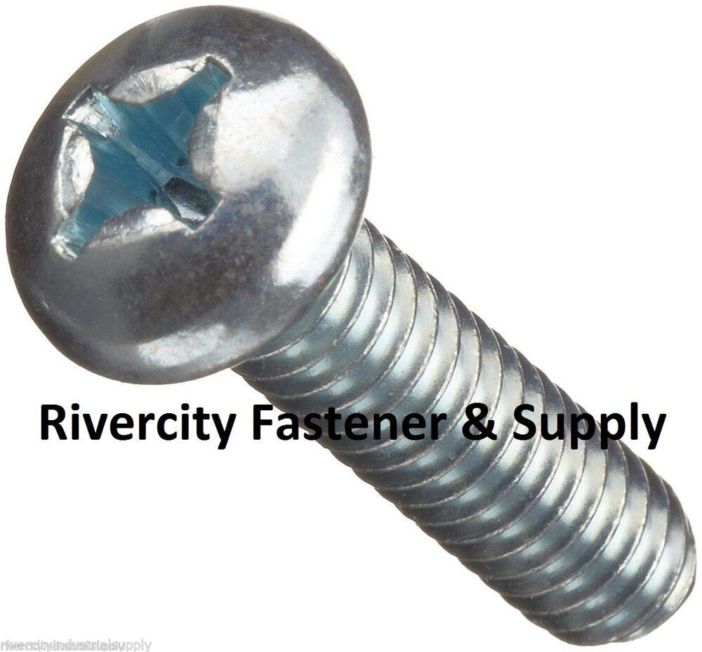100 pcs M6-1.0x40 Metric Compatible with JIS Phillips Pan Head 6mm x 40mm Machine Screws M6x40mm