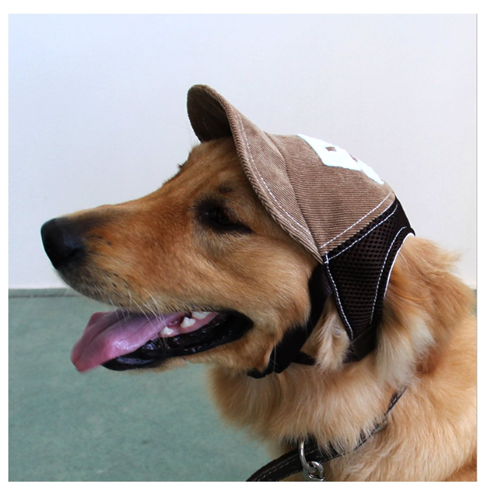 Coffee M Coffee M Mikayoo Dog Sun Hat,Jeans Adjustable Pet Dog Sport Baseball Outdoor Sun Predection Hat Cap(Coffee,M)