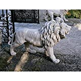 Design Toscano KY1671 Regal Lion Sentinel of Grisham Manor Statue-Right Foot Forward Antique Stone, Off White