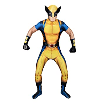Morphsuits - Disfraz Wolverine, Multicolor (delux digital), talla M (150cm-162cm)