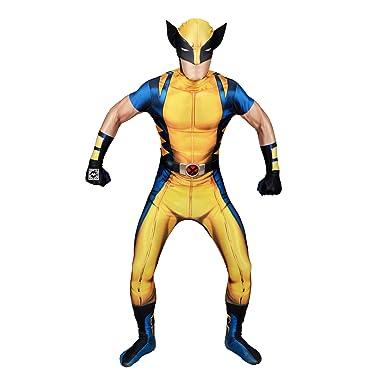 Amazon.com: Fancy dress-digital Wolverine morphsuit-adult ...