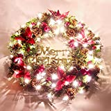 Christmas Garland for Stairs fireplaces Christmas Garland Decoration Xmas Festive Wreath Garland with Christmas Wreath Wreath Door Christmas,60cm insert light