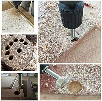 linstallation de portes sph/ériques bois 55mm M/èches bois HSS fraise bois carbure vous aide rapidement pour faire des trous propres /à fond plat dans le bois tiroirs