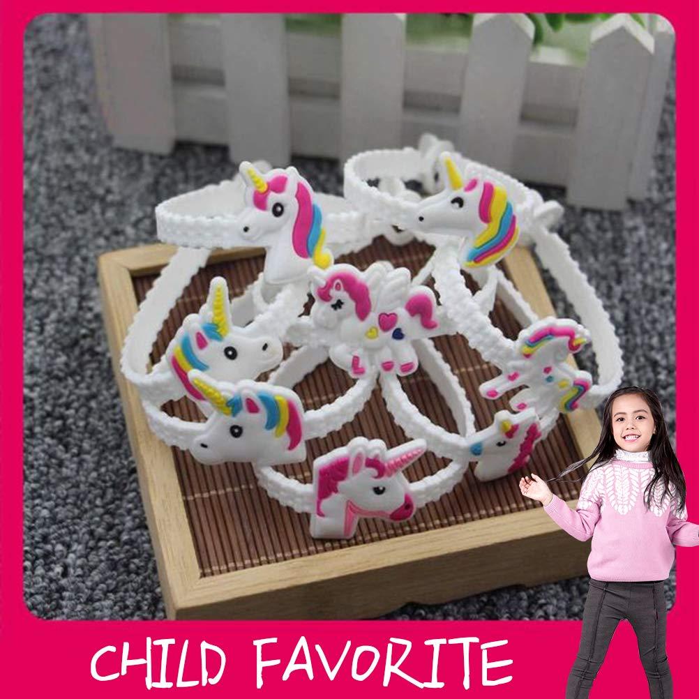 Neborn 48 pezzi//set moda per bambini bel animale unicorno braccialetto braccialetto per bambini Mix Styles Charme compleanno Party regalo bracciali
