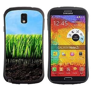 Suave TPU GEL Carcasa Funda Silicona Blando Estuche Caso de protección (para) Samsung Note 3 / CECELL Phone case / / Nature Beautiful Forrest Green 136 /