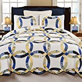Provence Wedding Ring K Quilt Set