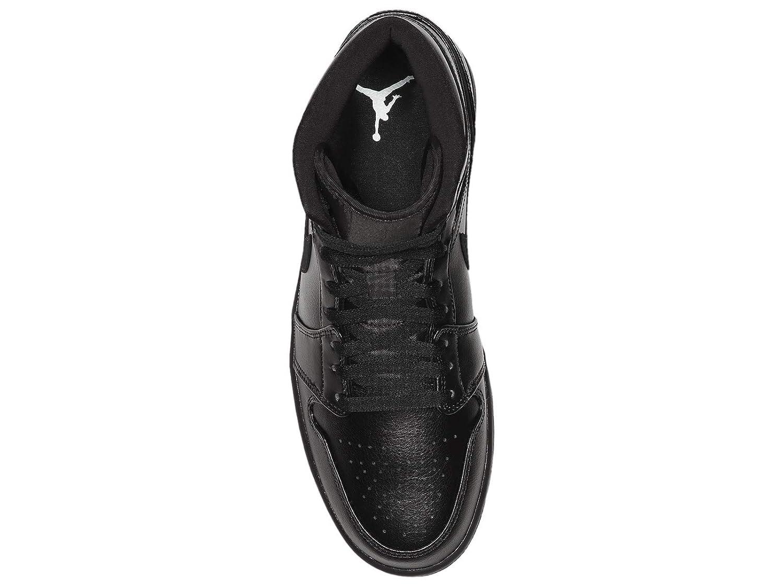 Nike Air Jordan 1 Mid, Scarpe da Basket Uomo, Nero (BlackBlackBlack 090), 49.5 EU
