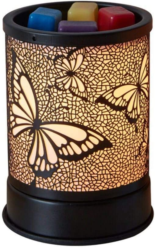 Wax Warmer for Scented Wax, Electric Wax Melter Candle Warmer Metal Butterfly Design Essential Oil Burner for Home Décor