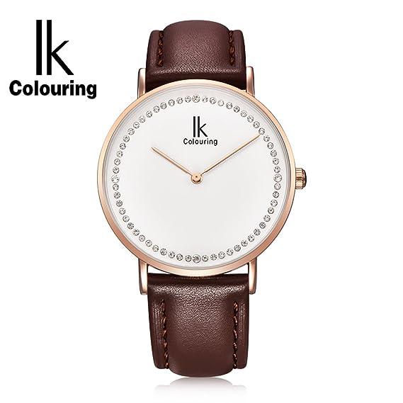 GuTe IK moda diamantes oro rosa reloj de pulsera minimalista 7 326db7ebcb2e