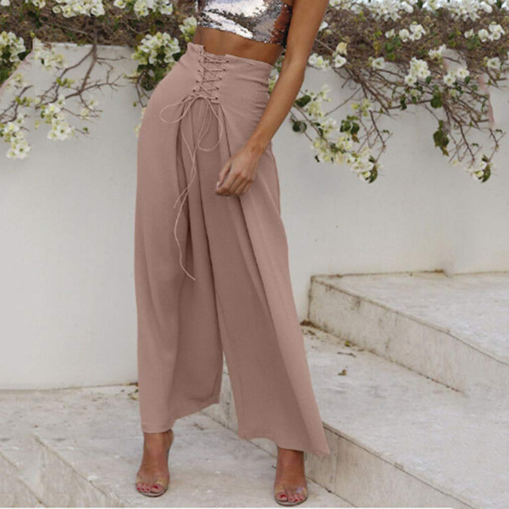 NEEKY Hose Damen Gym Trainingshose Pants Frauen Palazzo Hohe Taille Weites Bein Culottes Hosen Yoga Harem Baggy Lose Hosen