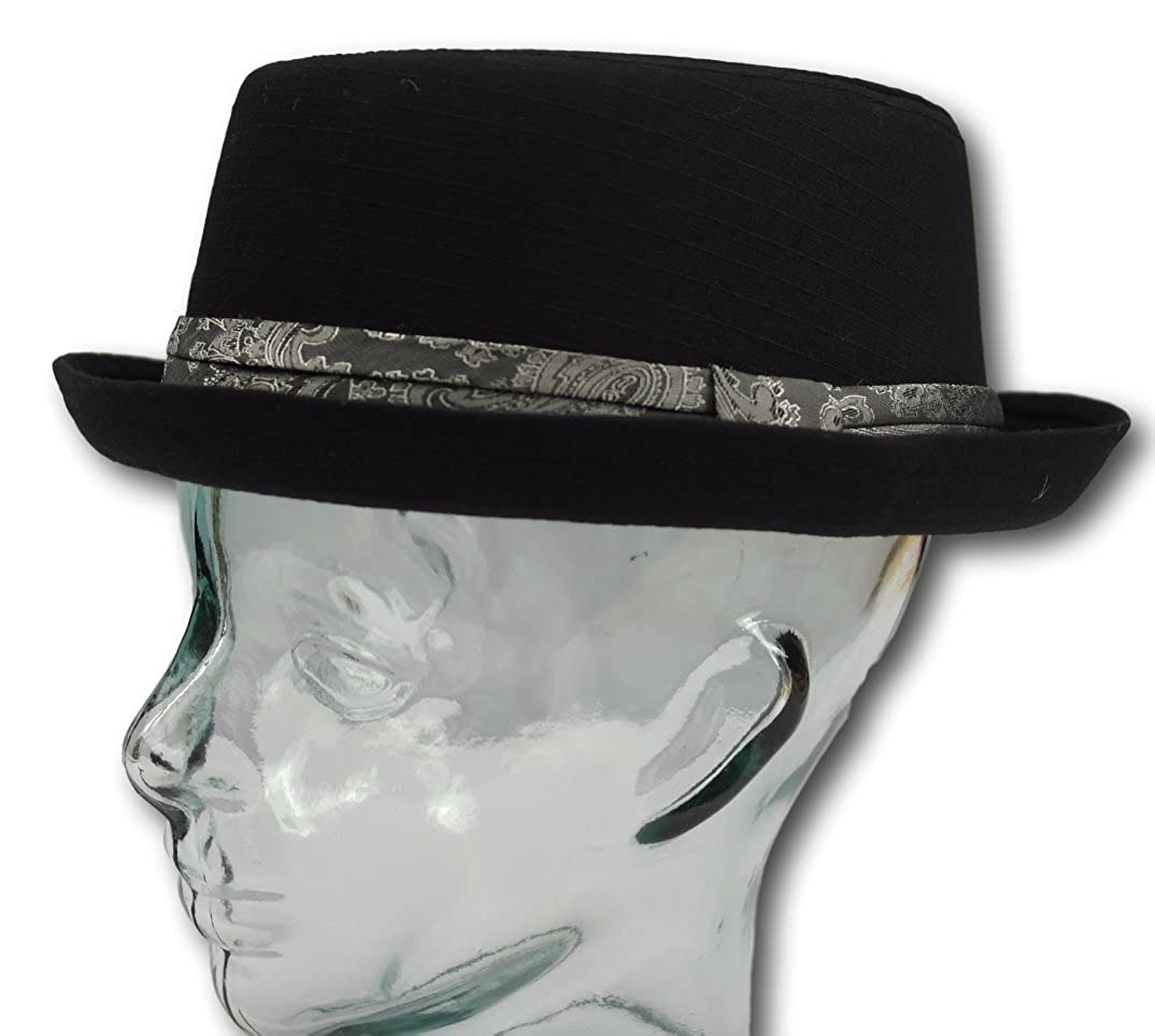 Cotton Rude boy/ska / Northern Soul Pork Pie hat - Black Size 57cm Vectis