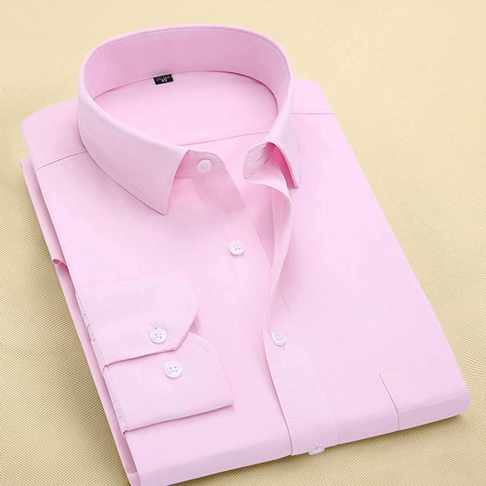 Plus Size 8XL Long Sleeve Solid Men Dress Shirts Large 7XL 6XL ...