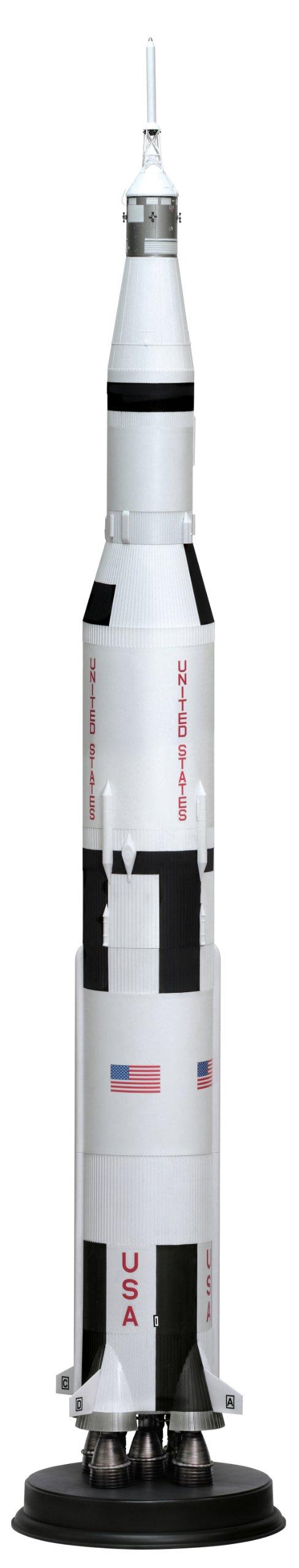 Dragon Models Apollo 11 Saturn V Spacecraft Building Kit, 1/72-Scale