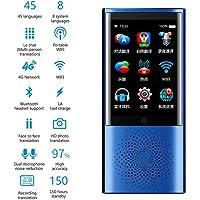 OMZBM Dispositivo Multifuncional Inteligente con Traductor 45 Idiomas,2,8 Pulgadas Pantalla Táctil,Soporte WiFi 4G Hotspot Sin Conexión para El Asistente Viaje Global Diccionario Electrónico,Blue