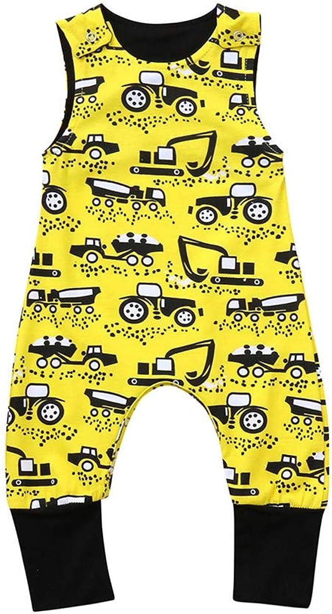 SANGQU Infant Unisex Baby Jumpsuit,Short Sleeve Cotton Cartoon Print Rompers