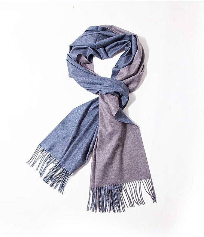 Bufanda chal primavera y otoño invierno algodón doble cara color ...