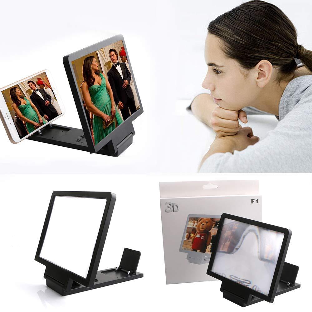 8//8 Plus 7 dxx Amplificador de pantalla del tel/éfono celular de 8,2 pulgadas 3D HD Movie Amplificador de v/ídeo con soporte plegable Soporte Compatible con Iphone X 7plus y todos los otros tel/éf