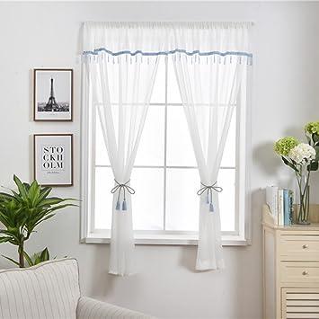 Voile vorhang,Solide weiße gaze,Modern minimalistisch,Für Küche ...