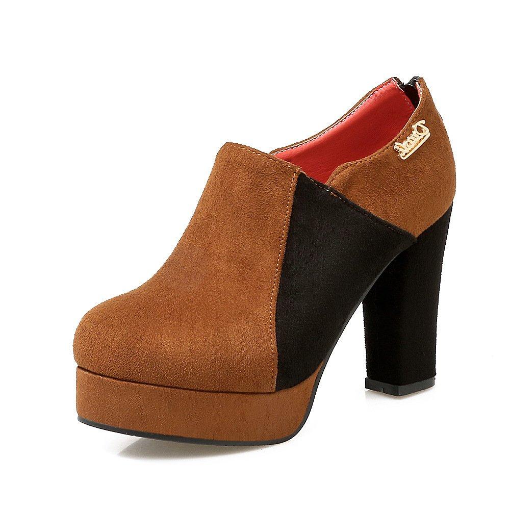 QIN&X Le donne donne donne del blocco punta breve caviglia stivali scarpe d1f81a
