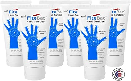 Amazon Com 6 Pack Alcohol Free Hand Sanitizer Germicidal Gel No