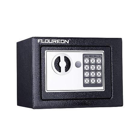 FLOUREON Caja Fuerte de Seguridad Cerradura de Teclado Electrónica Sólida, Oficina de Hotel Joyas Comerciales