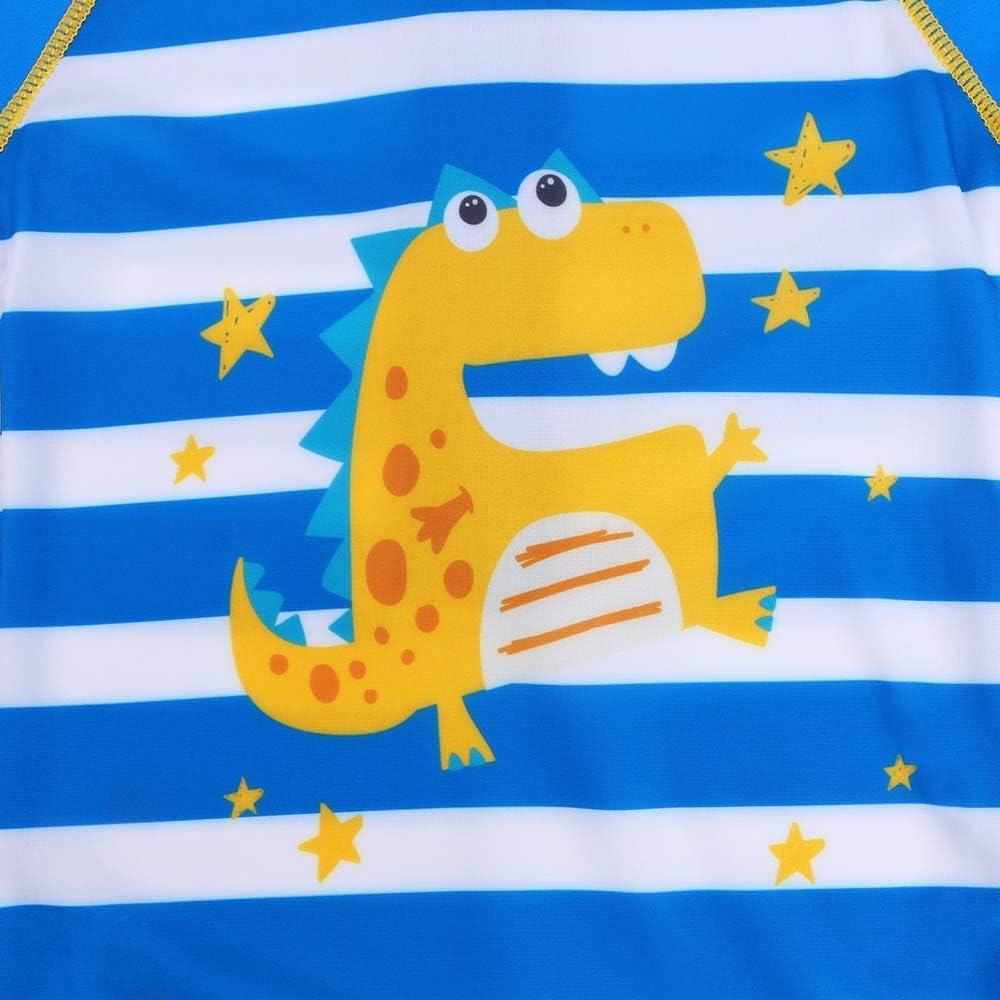 HUAANIUE Baby Toddler Boy Swimsuit Rash Guard Swimwear One Piece Stripe 6-12 Months