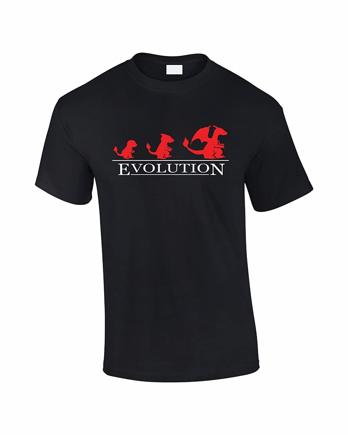 9fb451ac Mellor Design Charizard Evolution Inspired by Pokemon Adults T Shirt:  Amazon.co.uk: Clothing