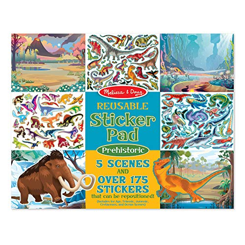 Dinosaur Little Stickers - Melissa & Doug Prehistoric Reusable Sticker Pad