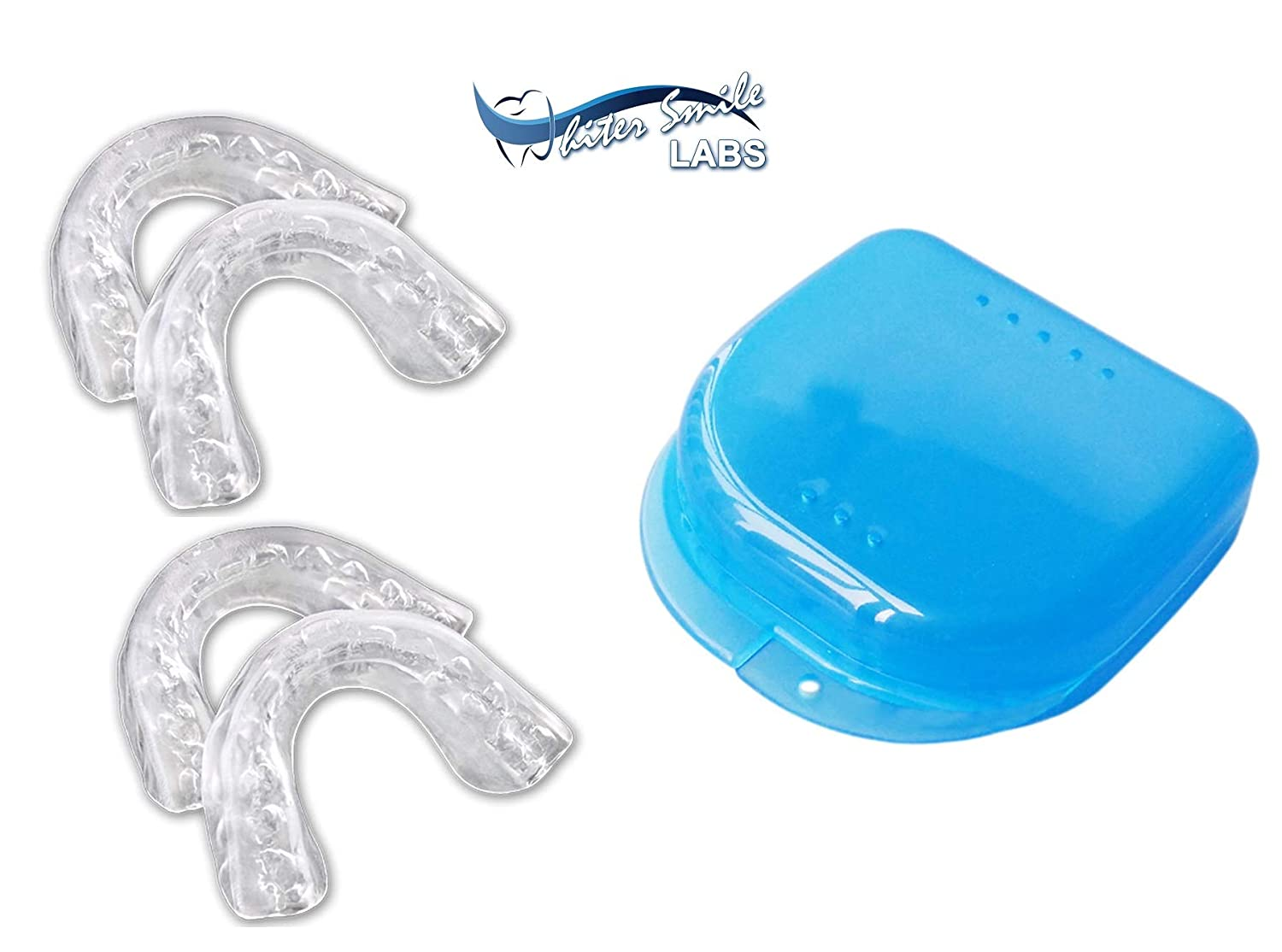 Whiter Smile Labs Teeth Whitening Trays - BPA Free - Thin Moldable Mouth Trays Form Perfectly To Each Tooth