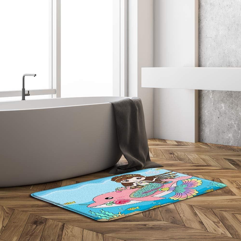 Beach Sunset Bath Mat,Ocean Scenery Tropical Island Nautical Wave Non-Slip Bathroom Rug Shower Floor,Summer Hawaiian Decor Bath Rug,Absorbent Doormat Bedroom Rug Kitchen Toilet,19.7 x 31.5